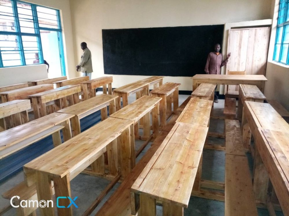 Inside the new classroom,
