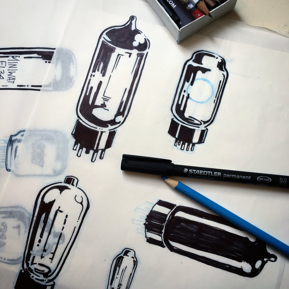 vacuum tube drawing