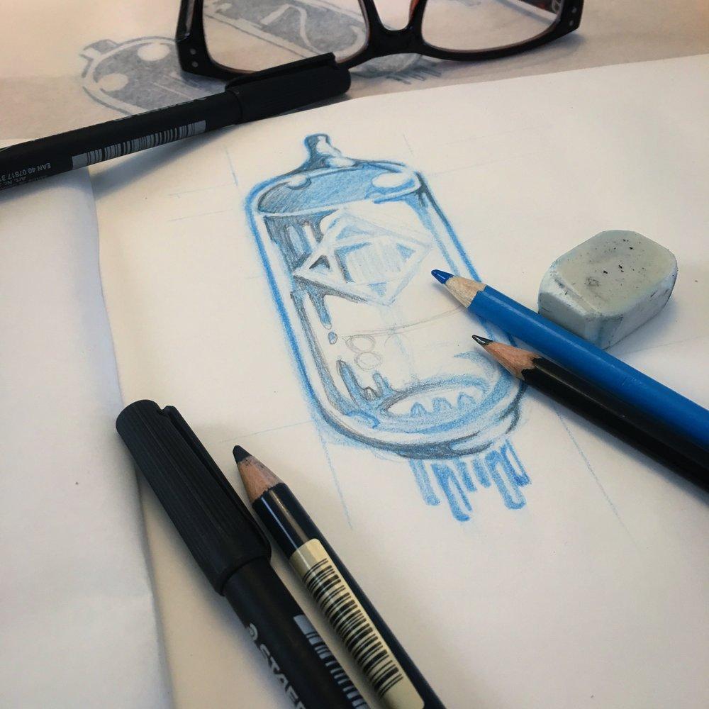vacuum tube drawing