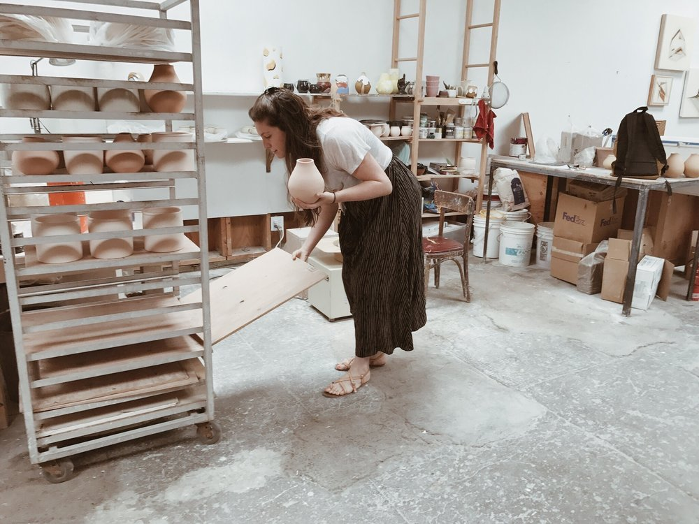 Rachel in her Oakland studio.