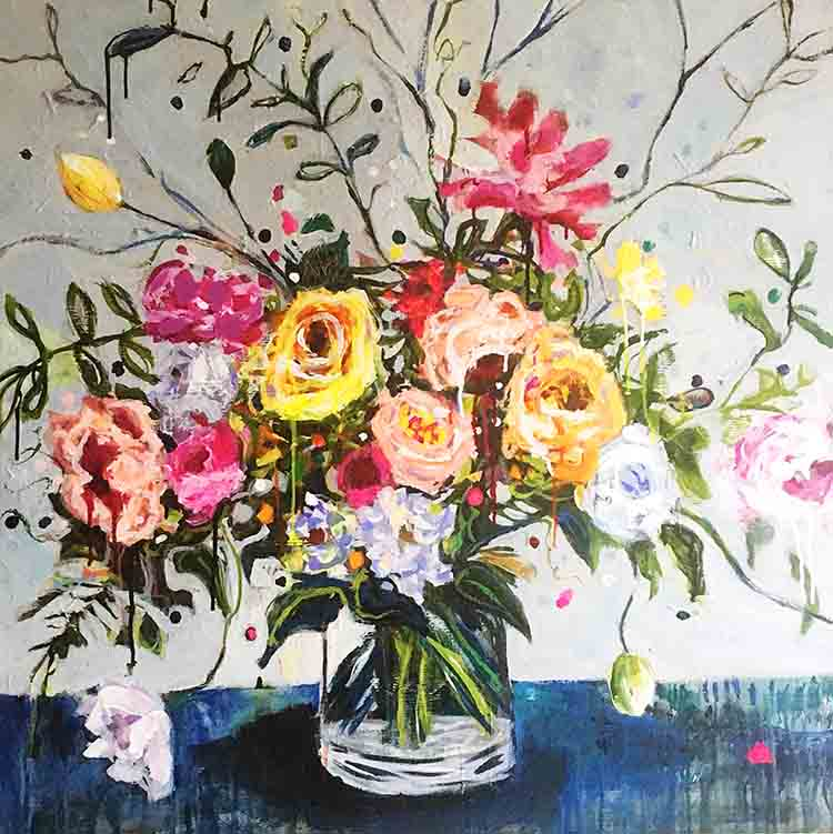 My latest floral still life inspired by several of the incredible florists I follow online and their beautiful arrangements!