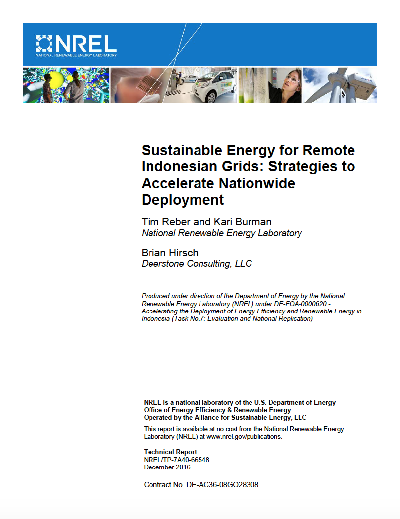Sustainable Energy for Remote Indonesian Grids: Strategies to Accelerate Nationwide Deployment