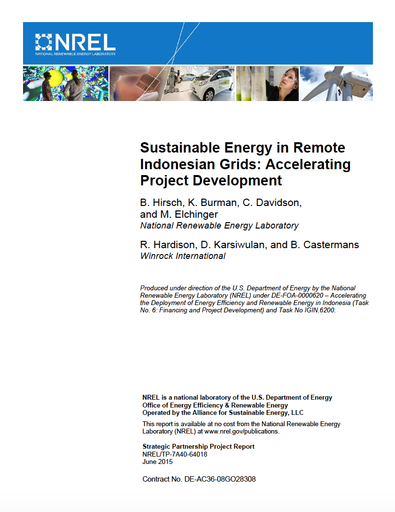 Sustainable Energy in Remote Indonesian Grids: Accelerating Project Development