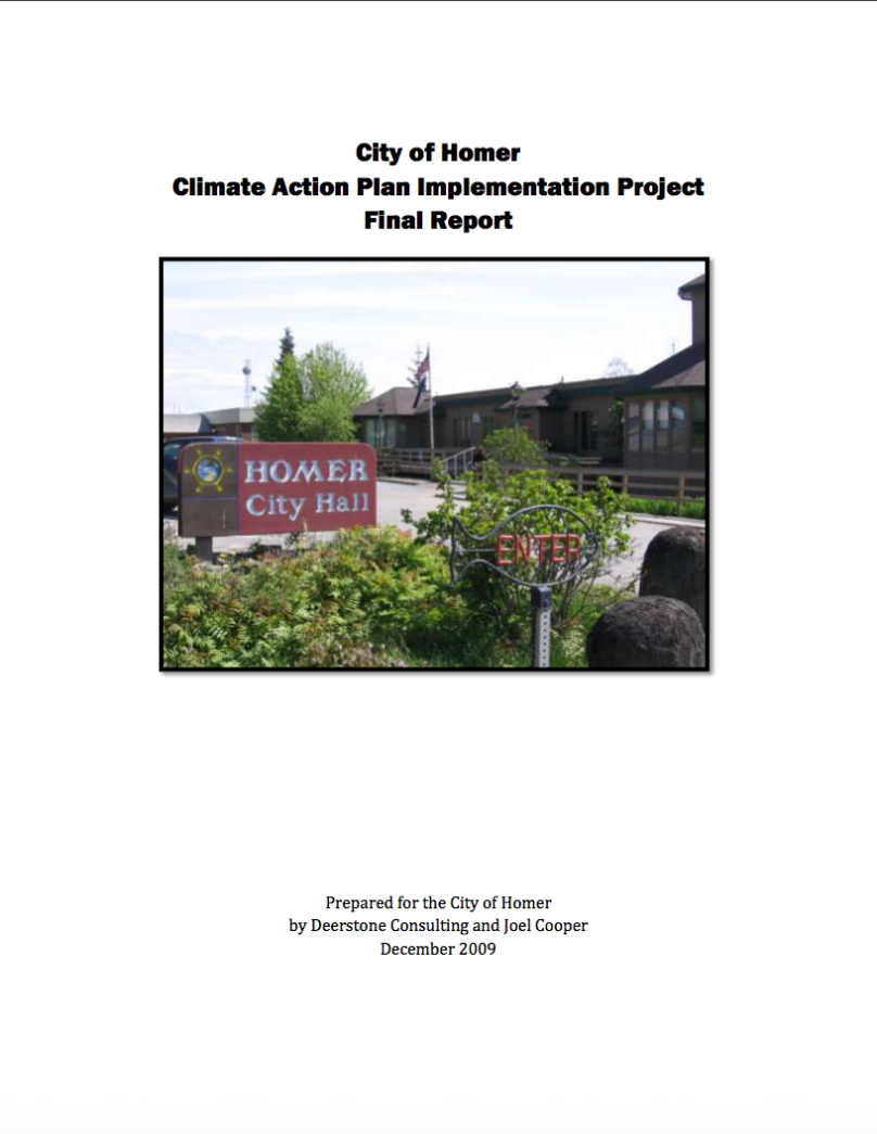 City of Homer Climate Action Plan Implementation Project Final Report