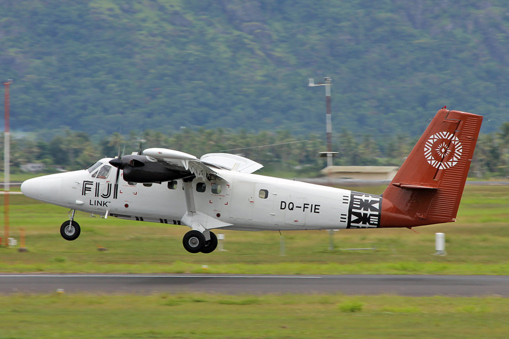 One of Fiji Airways three DHC-6-300's pictured at Nadi. The aircraft are operated by their regional arm, Fiji Link.