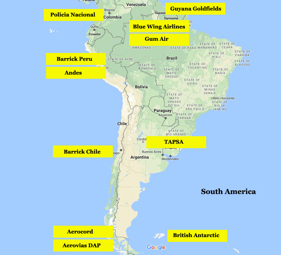 South America  Twin Otter World
