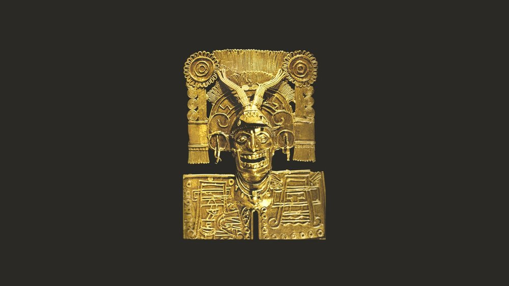 Pectoral of Mictlantecuhtli (1250 - 1521 A.D.). The technique with which it was made is lost wax and with false filigree. One of the best known pieces of Mixtec filigree jewelry found in Tomb 7, Monte Albán.