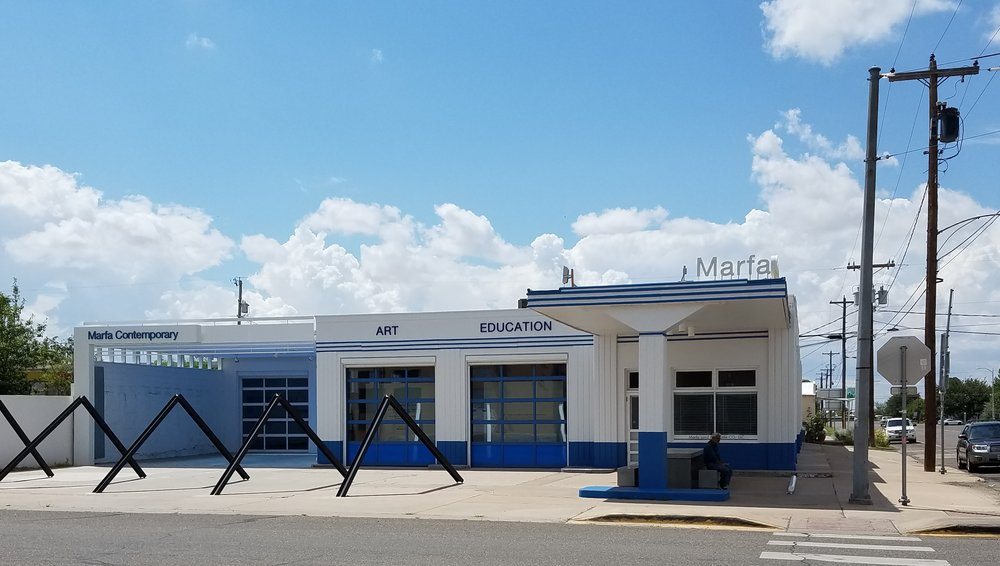 Marfa, Texas ingenuity: Gas station repurposed as an art museum.