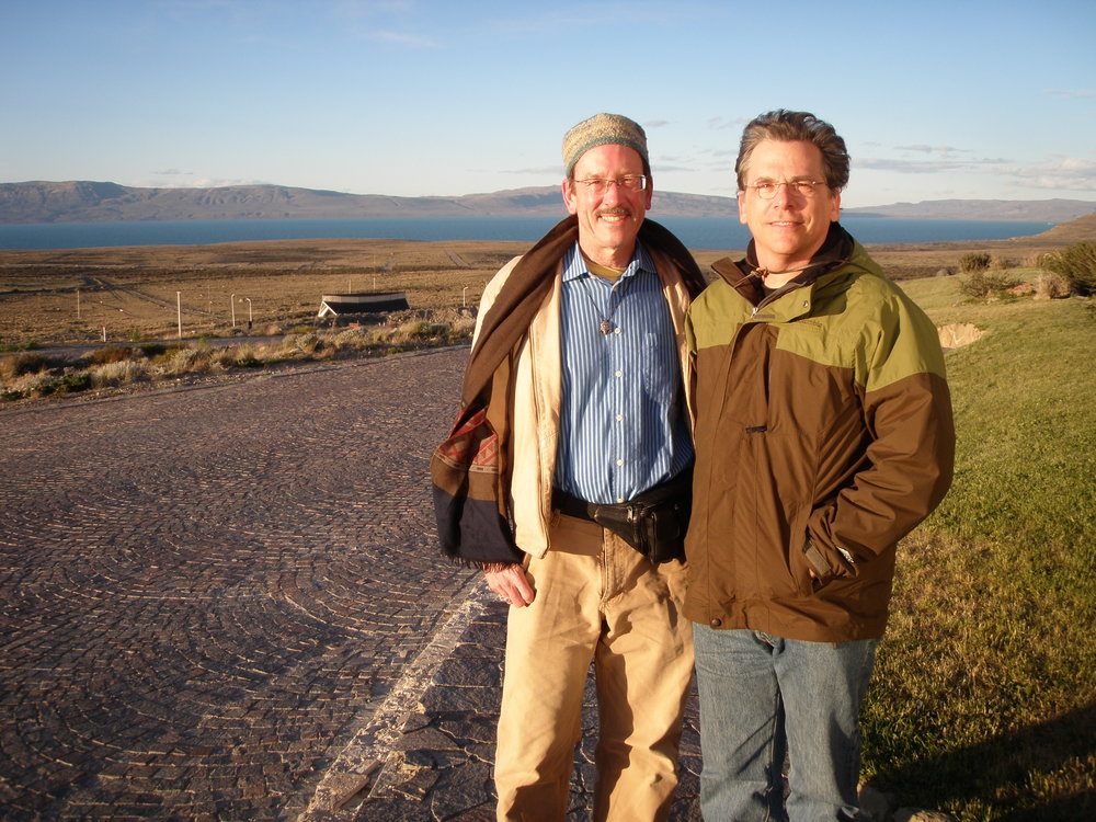 El Calafate, in Patagonia, Argentina. With my excellent travel buddy Stephen Silha.