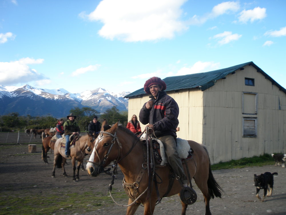 Nibepo Aike, Patagonia. Our horseback riding guide.