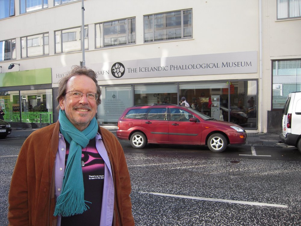 Stephen at the Icelandic Phallological Museum in Reykjavik.