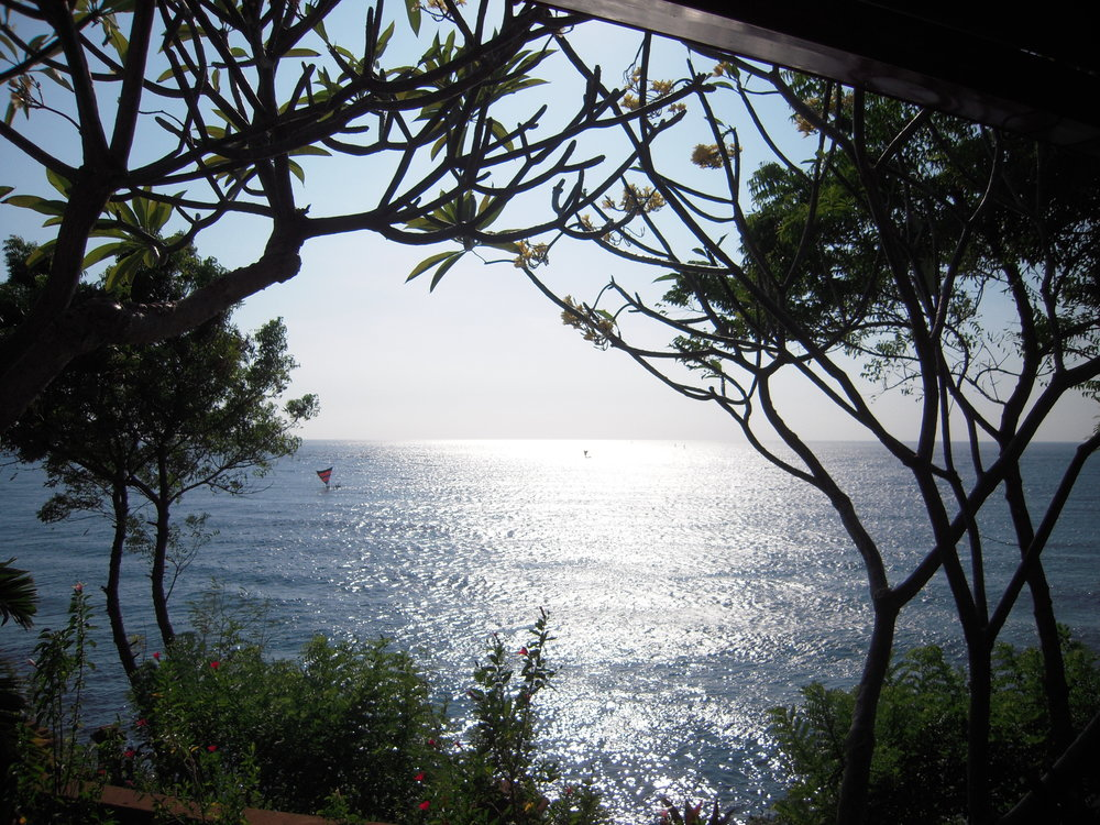 BALI 2014. Blue Moon Villas, Amed, on eastern shore of Bali. View from our room.JPG