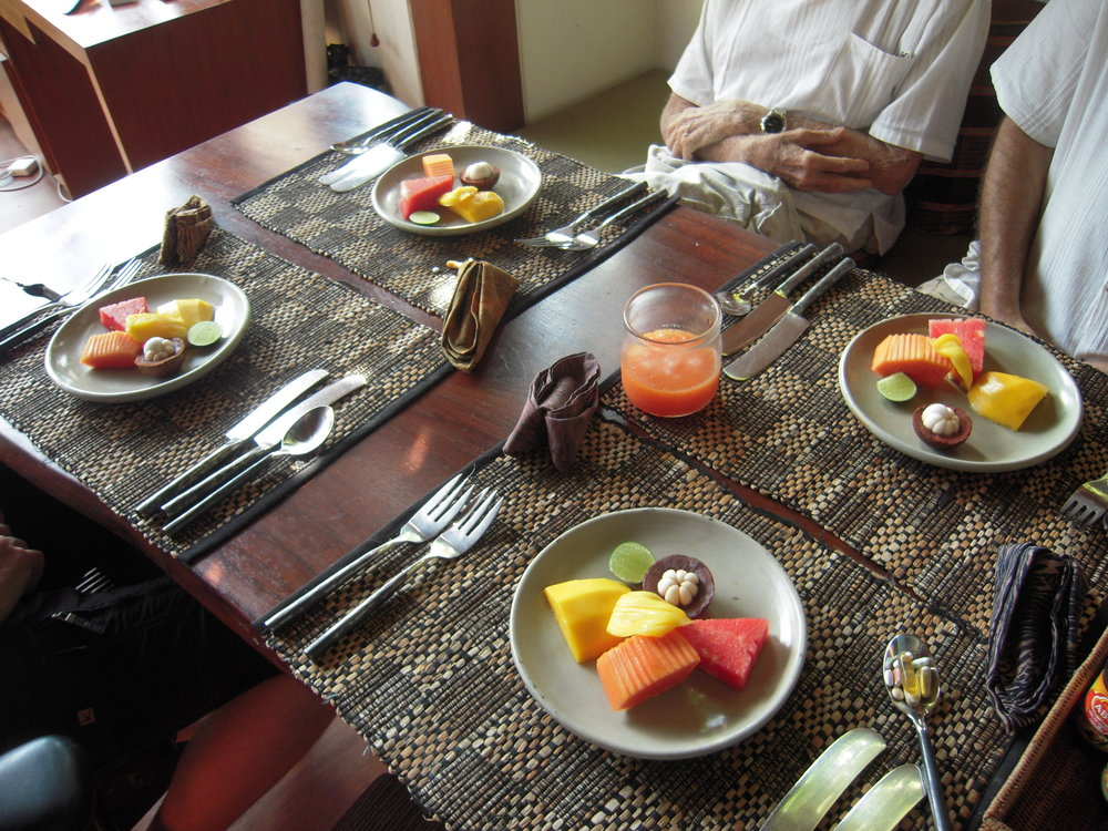 BALI 2014. Tropical fruit breakfast at Joel Singer's house.JPG