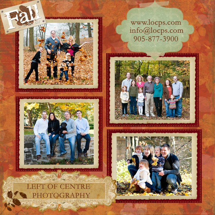 Large family groups promoting Family Portraits