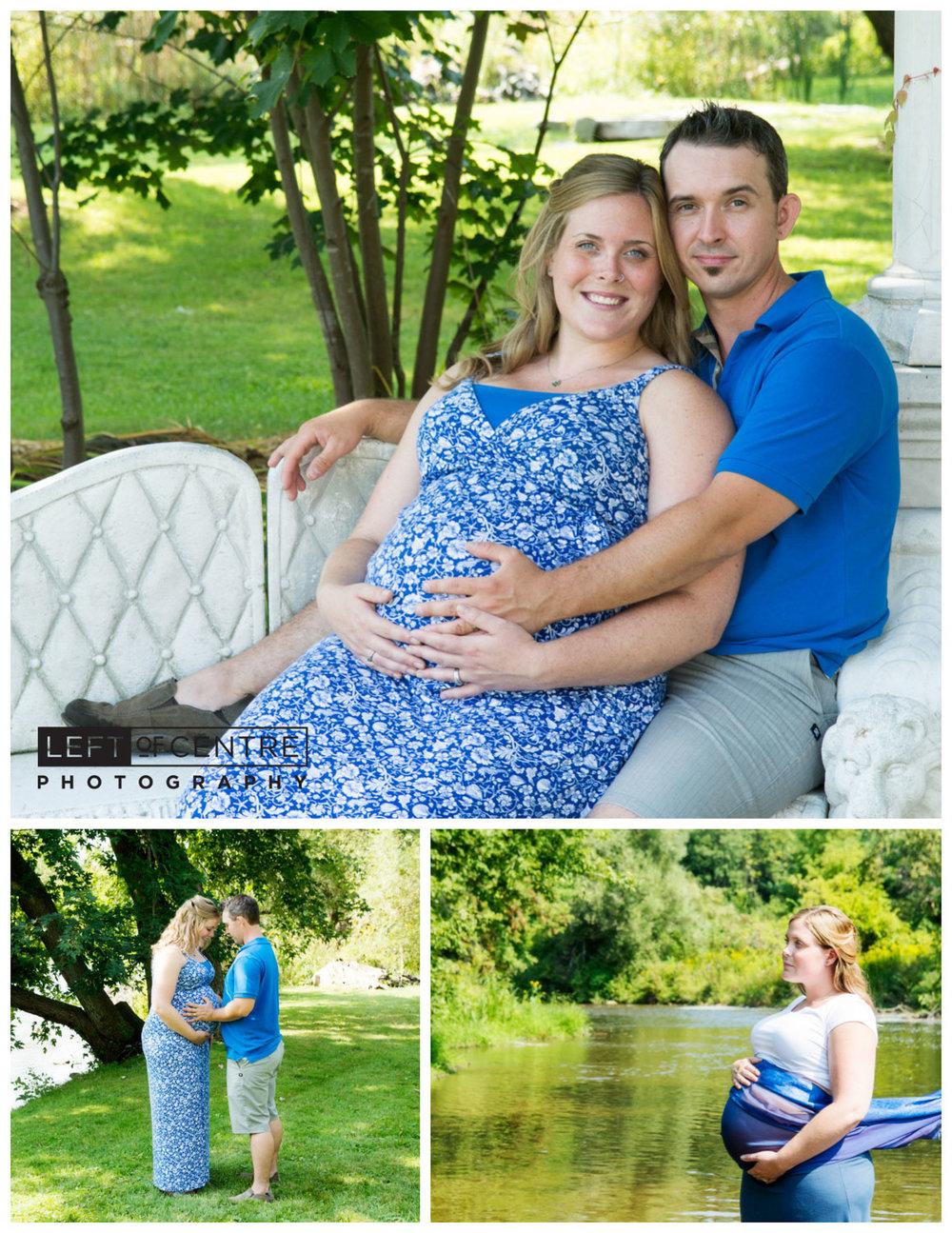 Terra Cotta maternity session collage