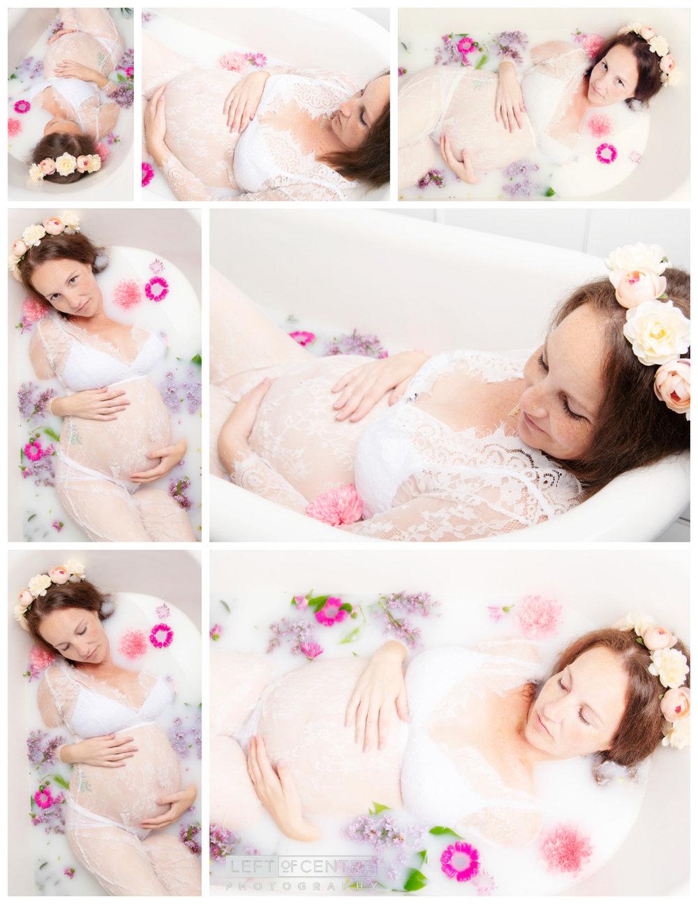 milk bath maternity collage