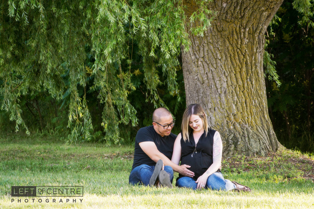 expecting couple portrait outdoors 127