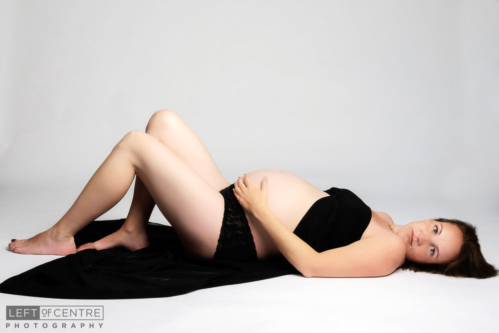 maternity mother in studio shot