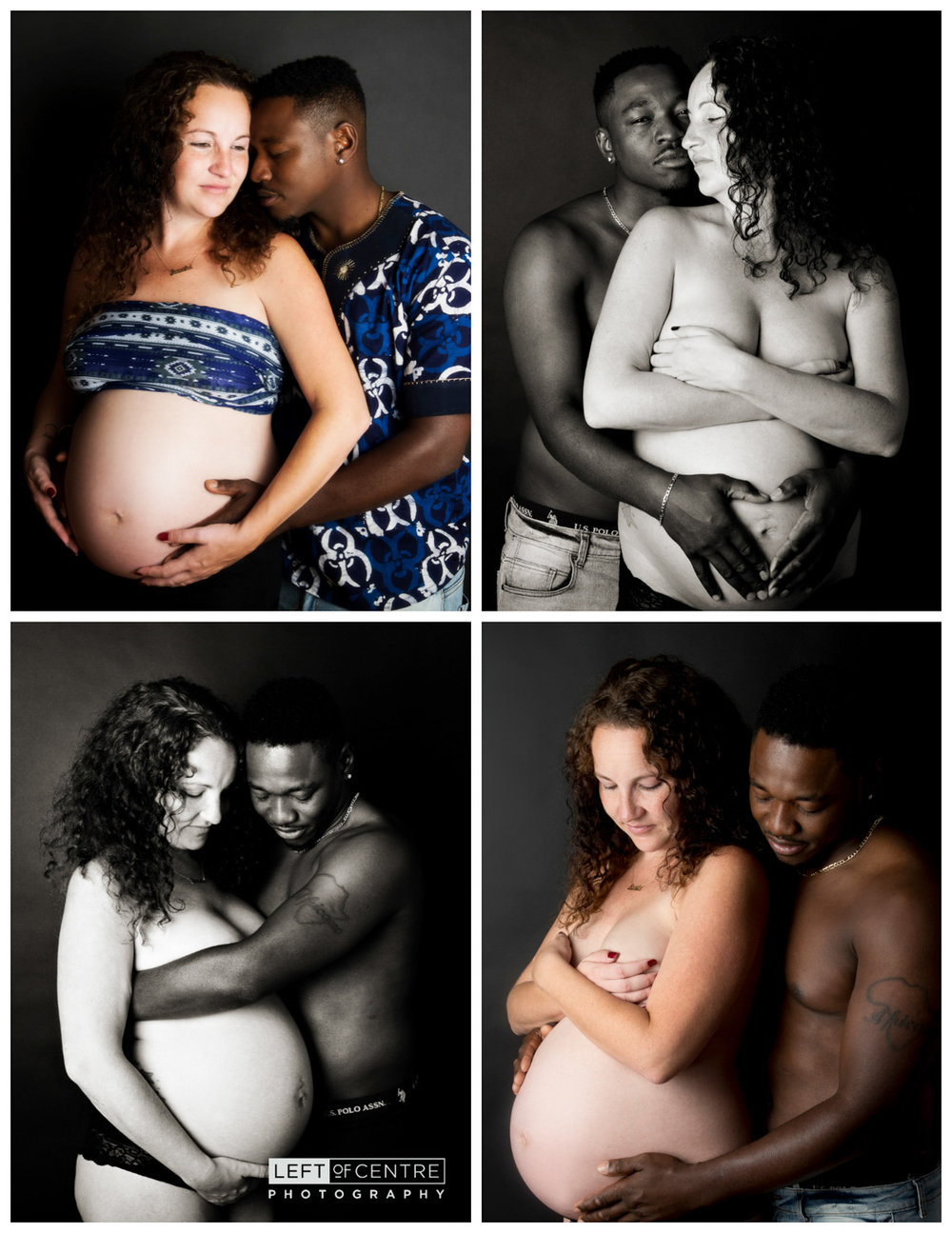studio maternity collage with parents