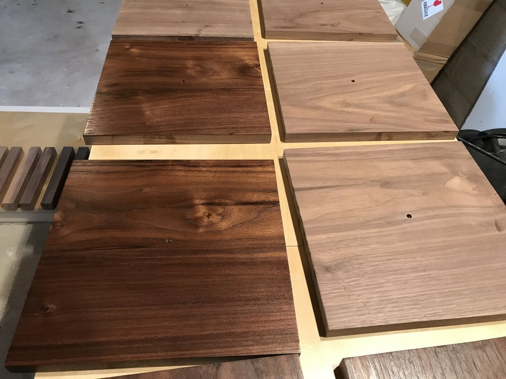 Walnut before and after tung oil