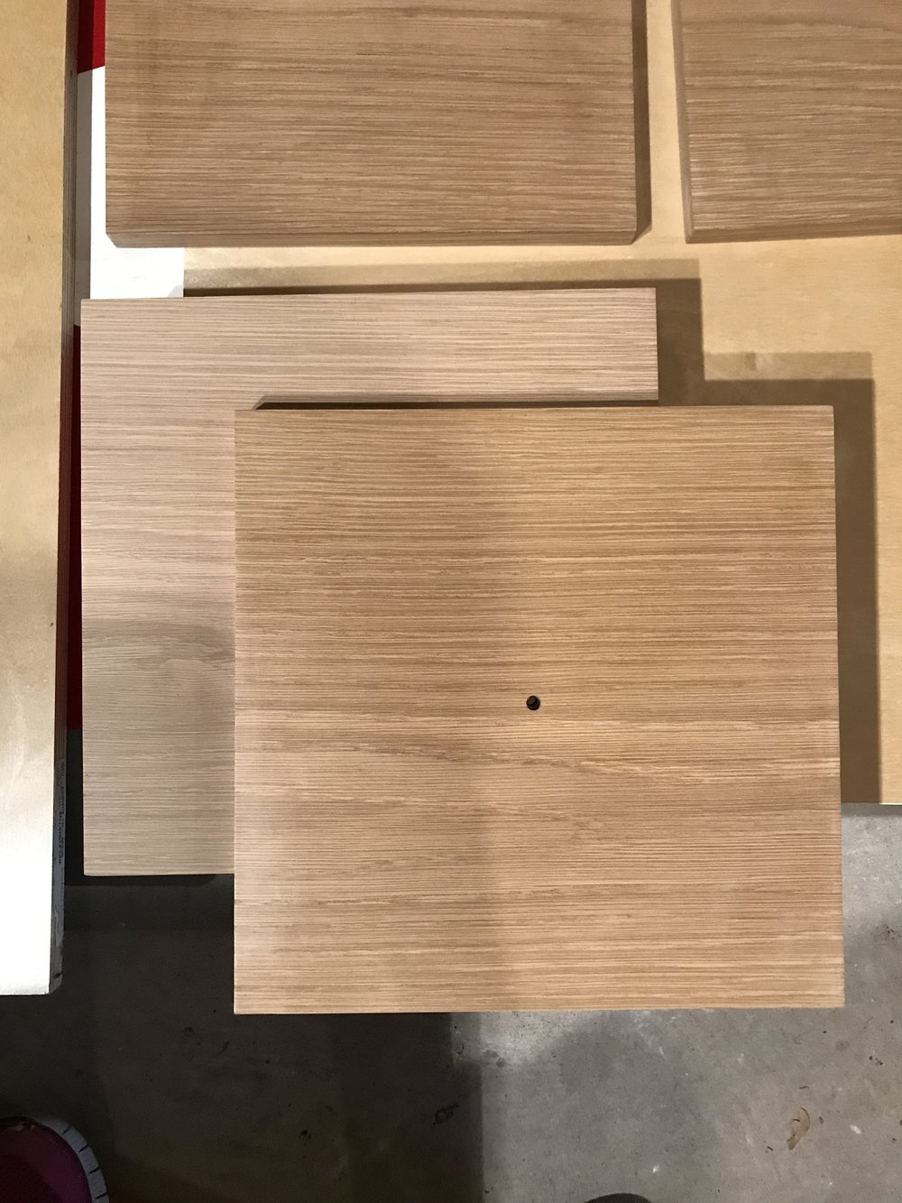 White oak before and after Danish soap finish