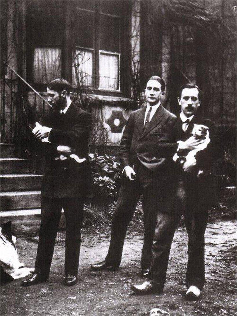 Jacque Villon, Marcel Duchamp, and Raymond Duchamp-Villon  (image source)