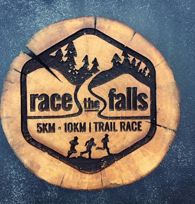 Custom order for Race the Falls trail race in Ontario! We're in love with how this engraving turned out. 😍