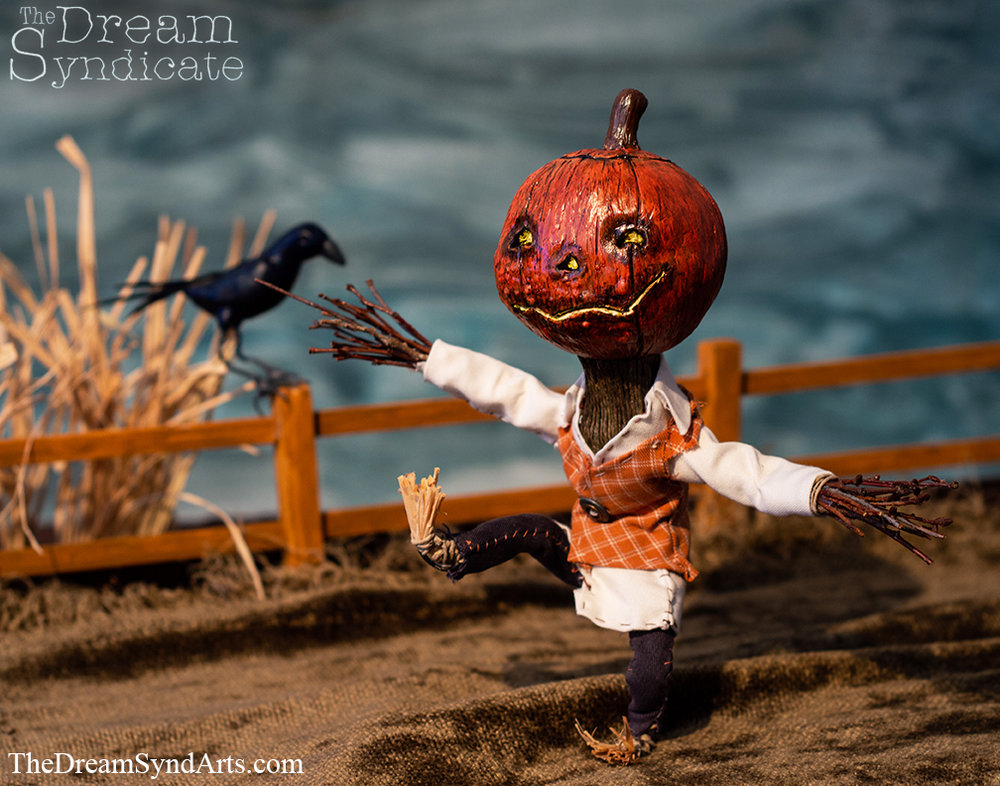 Jack and his fellow pumpkin-sprite friends are looking forward to that time of year when they can roam the mortal world once again! You can purchase a print from Etsy  here  as well as the original sculpture  here .