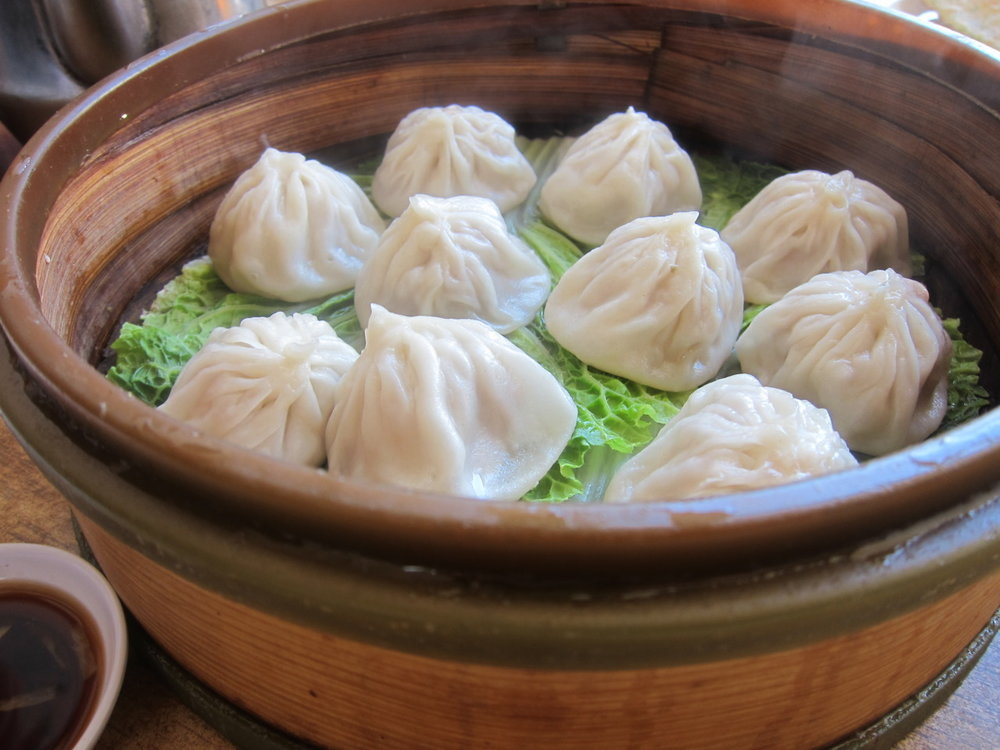Any dumpling pix to share? Nothing makes me happier than some thick skins filled with SOUP!This was from lunch yesterday in San Francisco.   xo   - Lynn