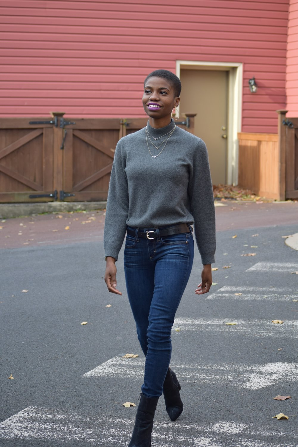 Sweater: Lord and Taylor (Thrifted) from Clothes Mentor Jeans: Bebe (Thrifted) from Clothes Mentor Boots: Cape Robbins (Thrifted) from Plato's Closet