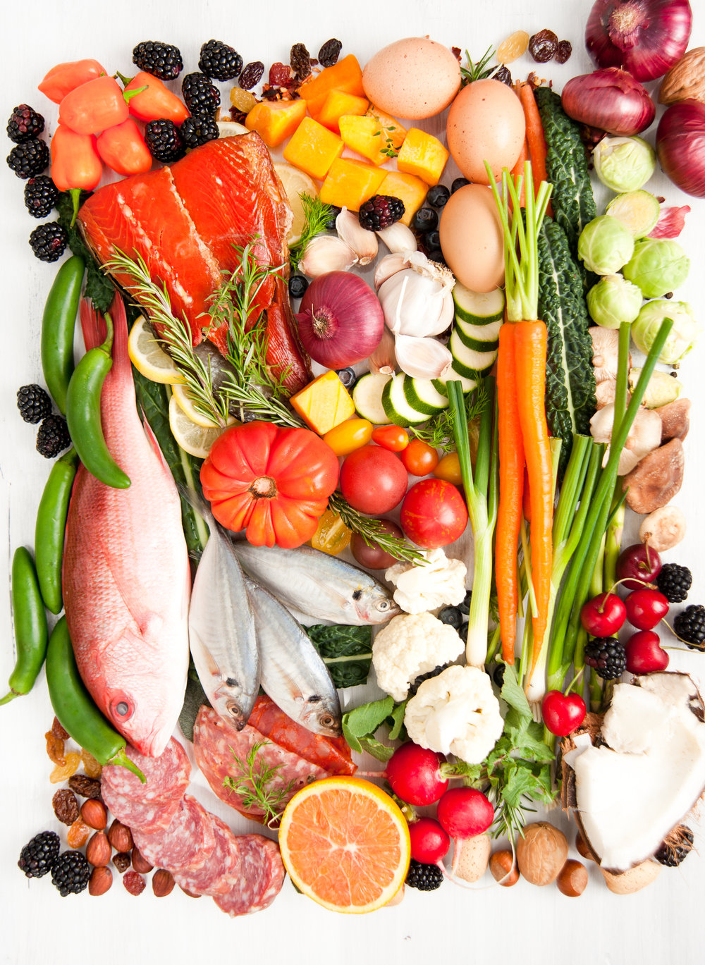 Paleo/Primal - The Paleo way of eating excludes grains, processed foods, beans, dairy, and potatoes. Primal usually includes raw or unprocessed dairy.