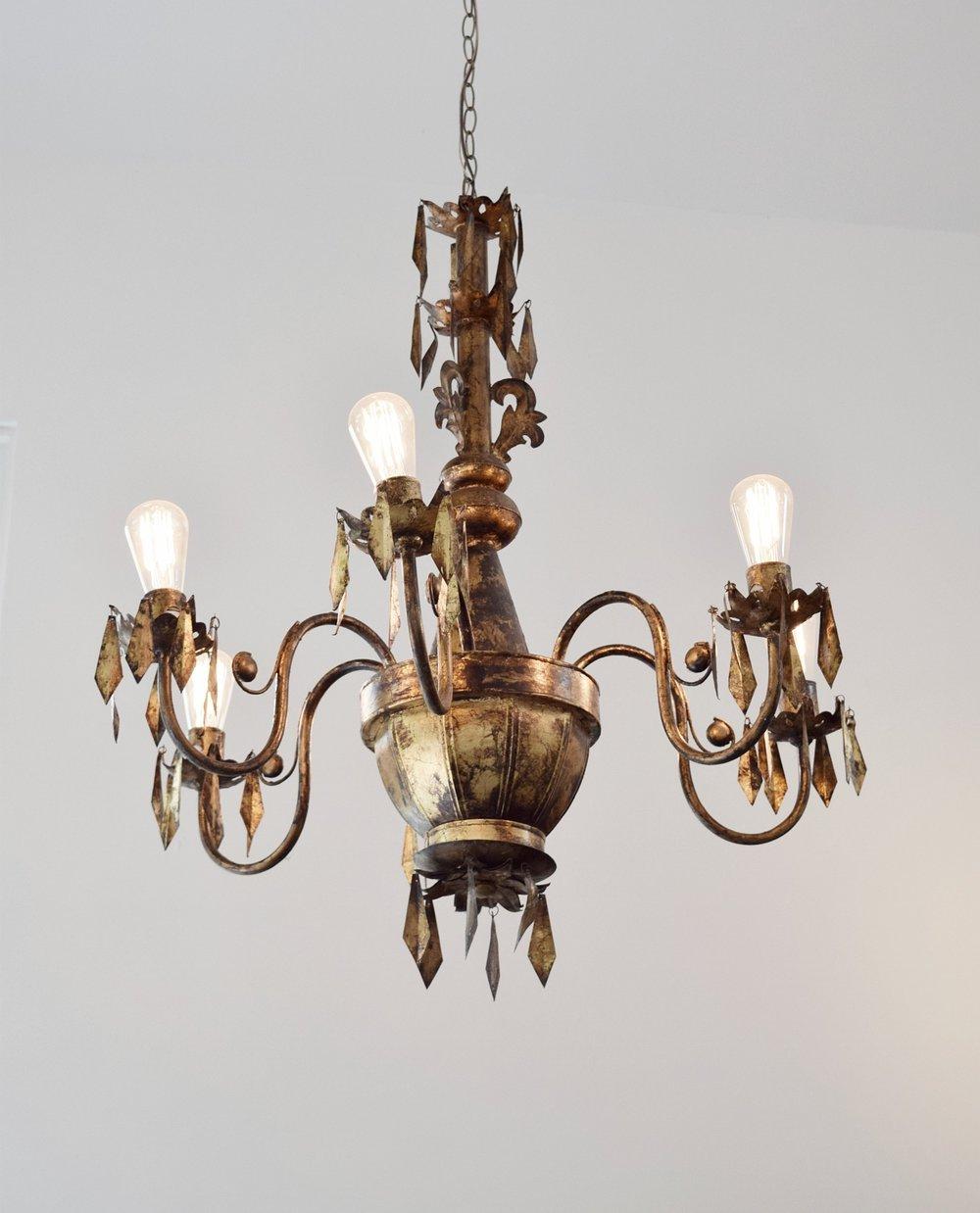 coombs market edison bulb chandelier