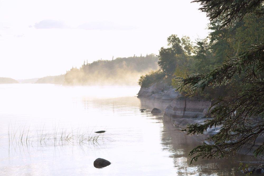 fog over nutimik lake