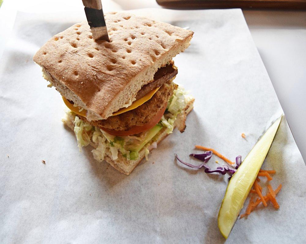 My big fat greek burger at Boon Burger