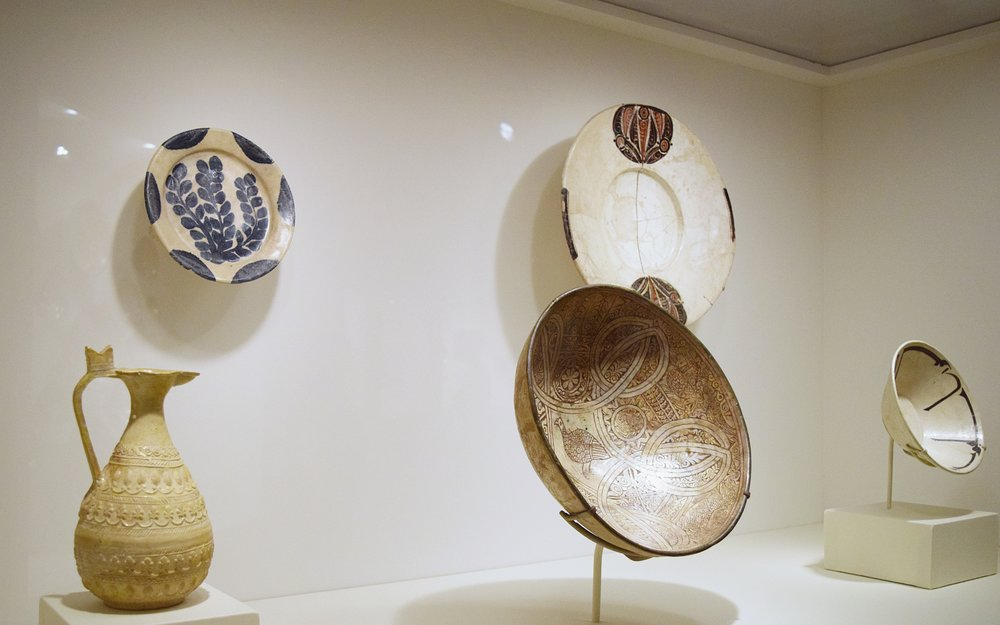 bowls and vessels from art of islam exhibit at dallas museum of art