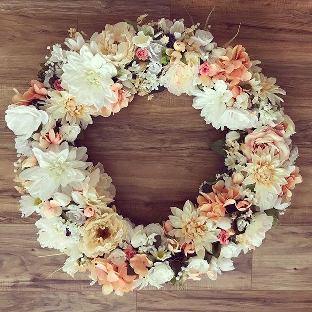 Neutral grapevine wreath