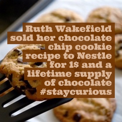 ruth wakefield sold her chocolate chip cookie recipe to