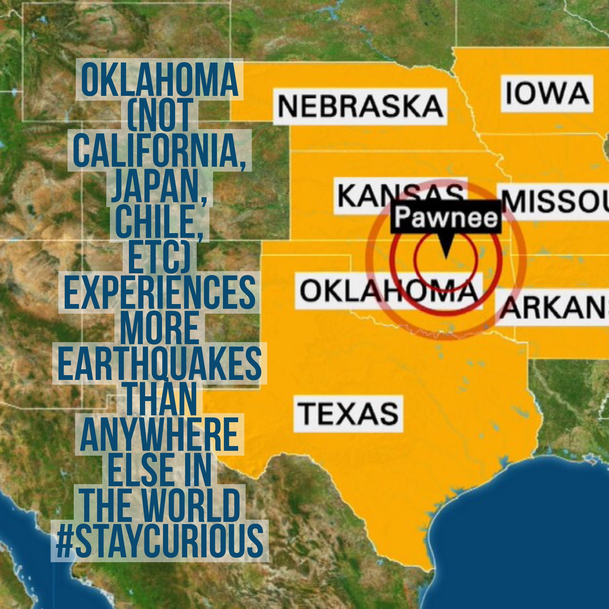 Oklahoma not california japan chile etc experiences more oklahoma not california japan chile etc experiences more earthquakes than anywhere gumiabroncs Images