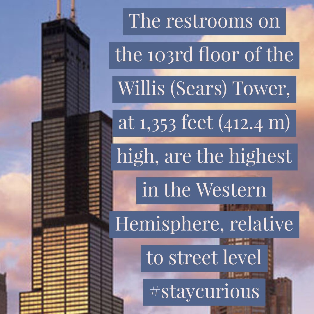 The Restrooms On The 103rd Floor Of The Willis Sears Tower At