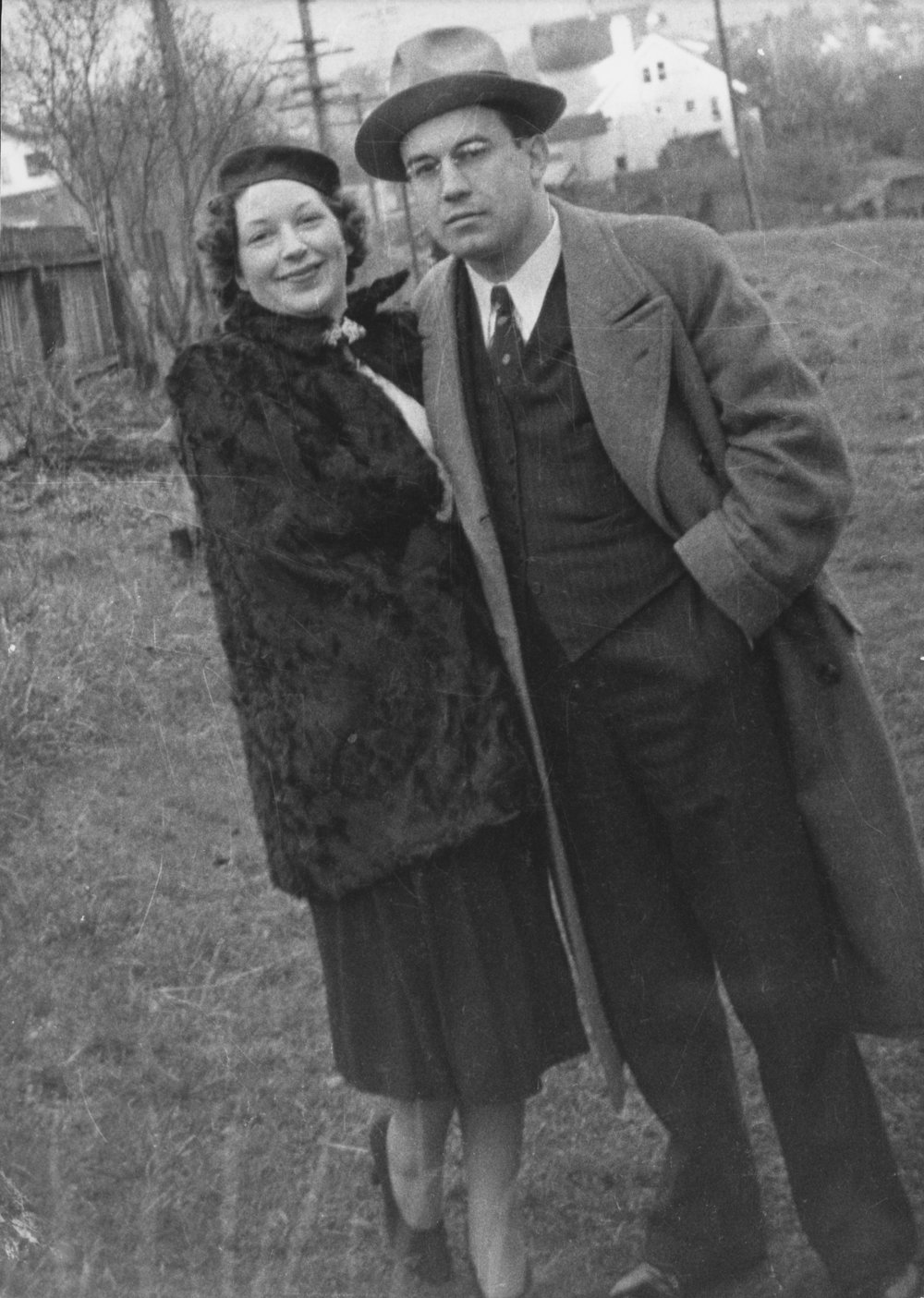 Army & Betty; Gloria Sferra's Parents - Bond Street, Seattle Farm, 1937