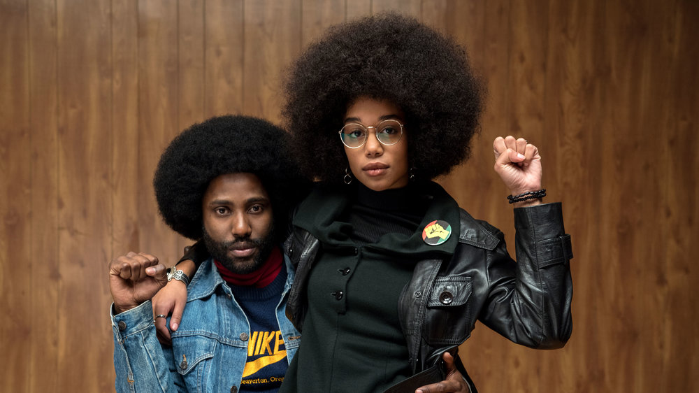 John David Washington; Lauren Harrier in  BlackkKlansman   Focus Features