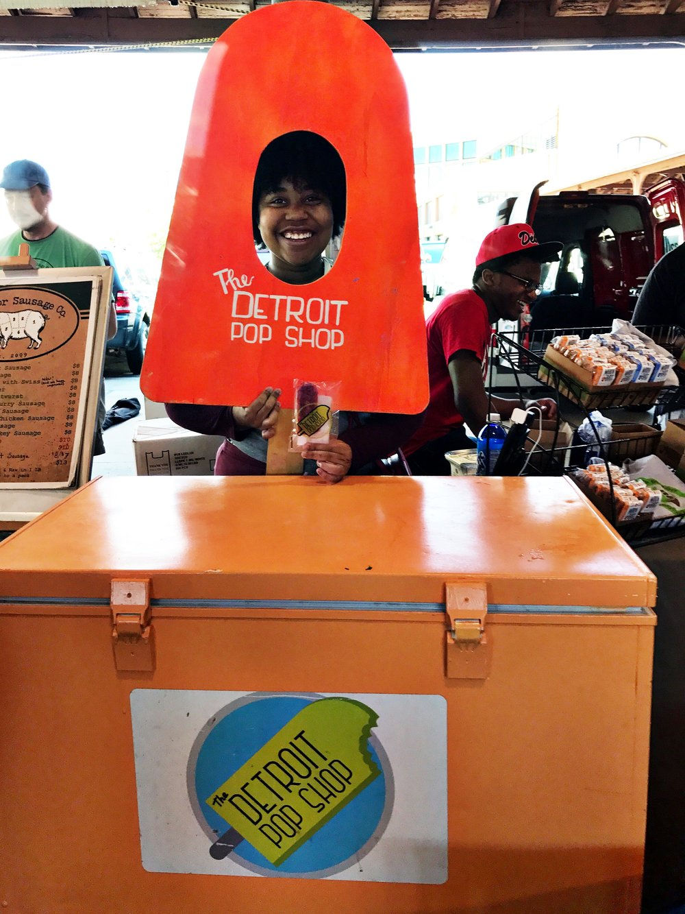 The Detroit Pop Shop - is supported by the Detroit Food Academy. Students like Samira Ray (in photo)learn how to become entrepreneurs.