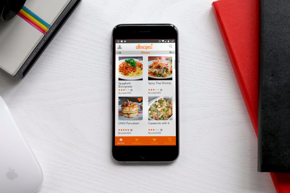 - Allrecipes -  Recipe resource app for food lovers