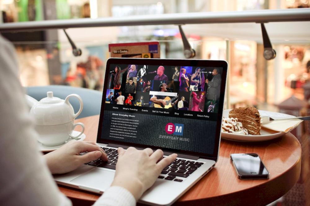 - Everday Music -Music store website