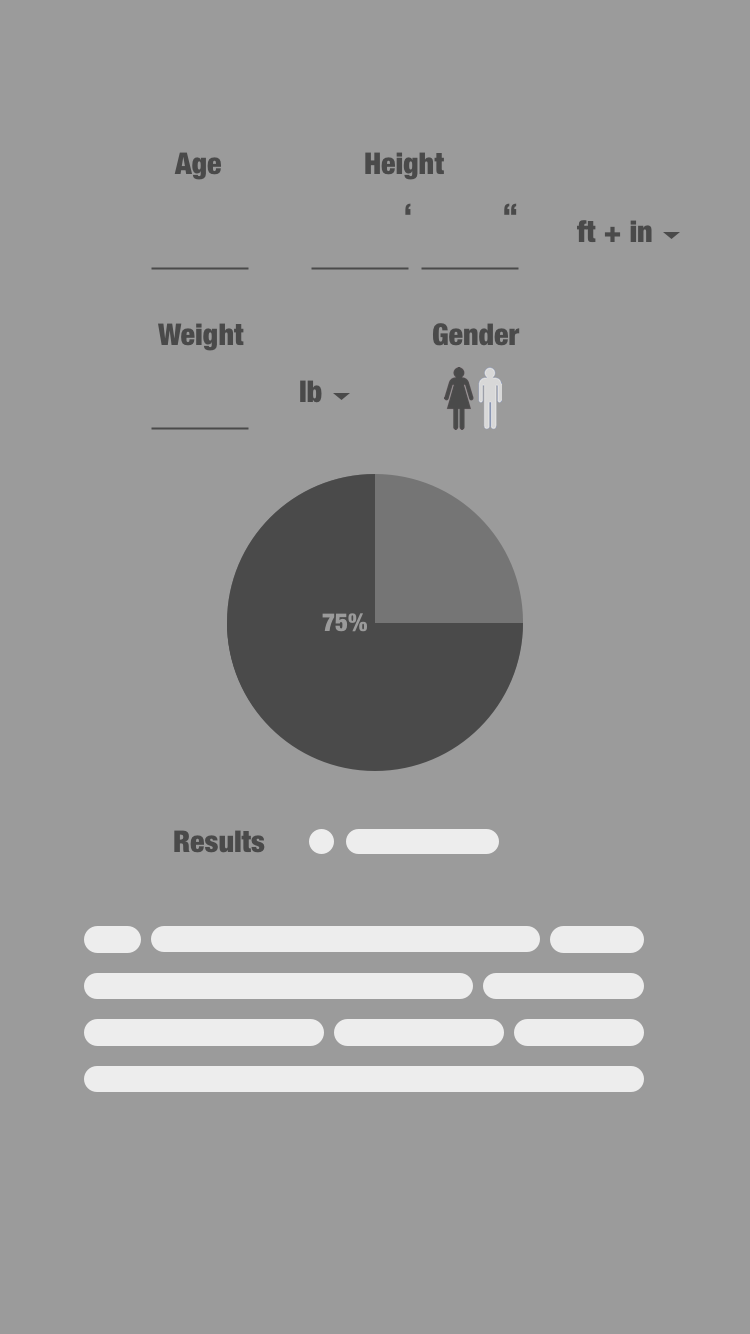 User friendly BMI calculator