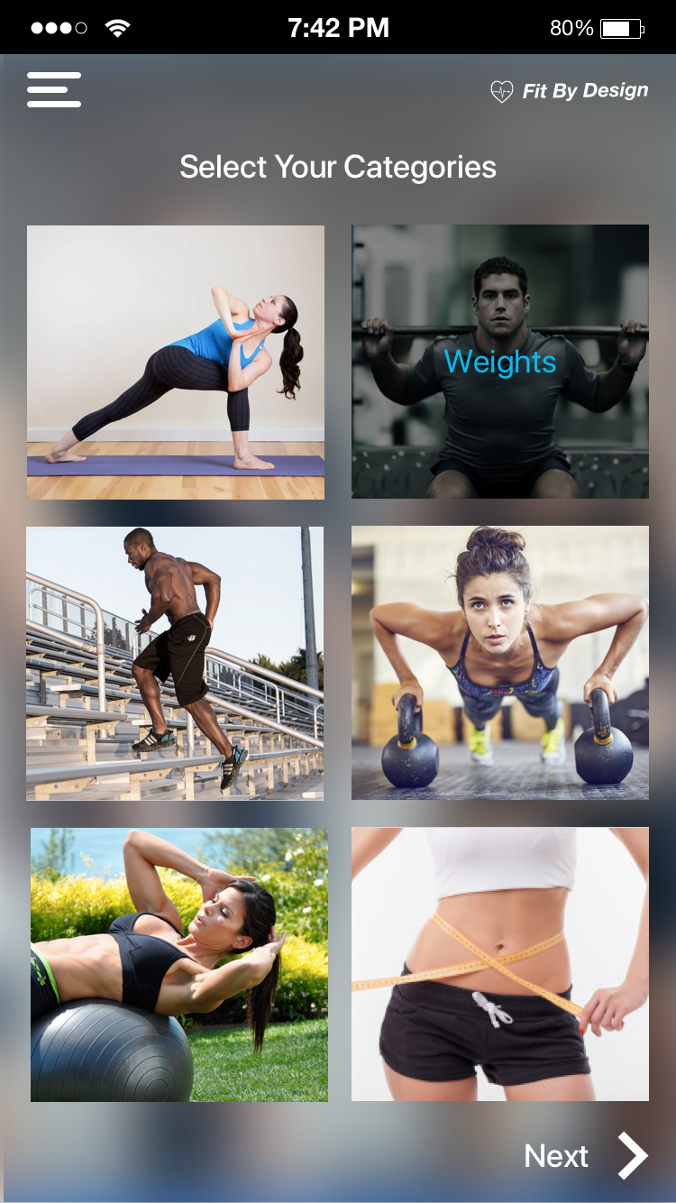 Choose the style of exercise you want without downloading several apps
