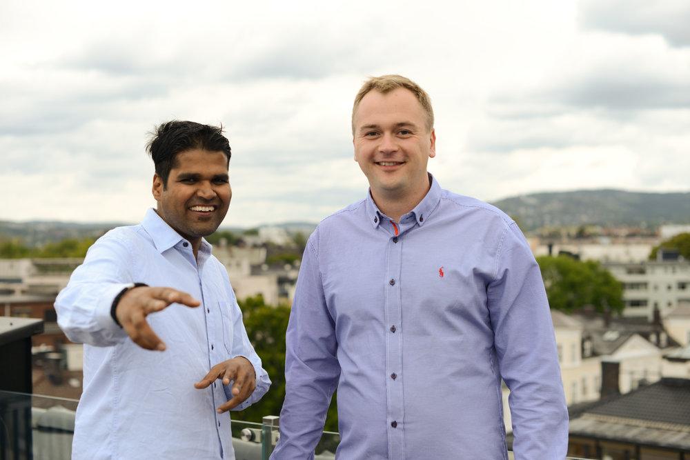 Chief Data Scientist Bikash and Lead Developer Stanislav