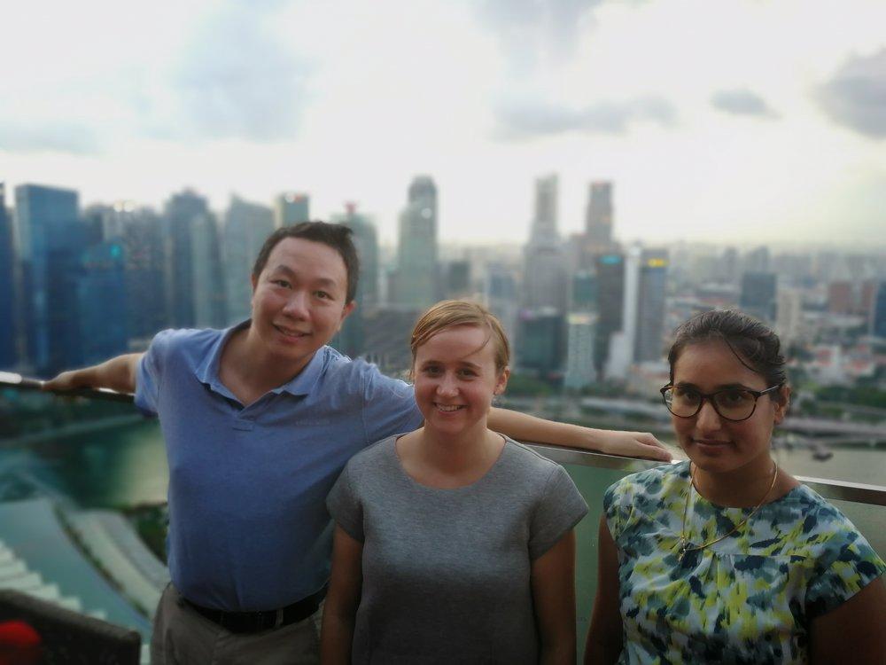 Erik, Oda and Saraswati working in the hight!
