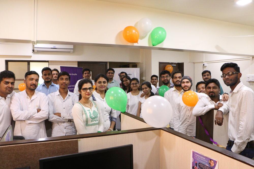 Team India celebrating Independence day
