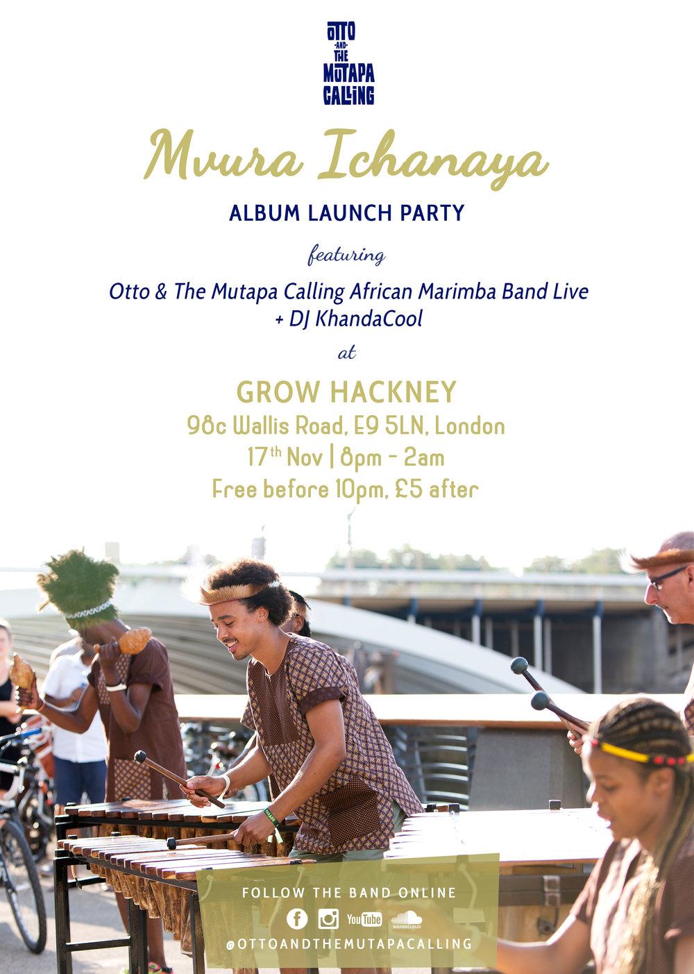 Otto And The Mutapa Calling Marimba Band Mvura Ichanaya Album Launch Party